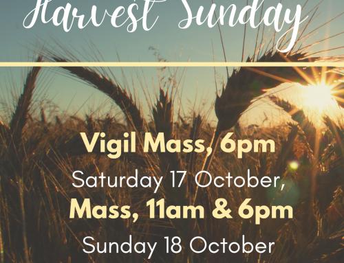 Harvest Sunday – 18th October